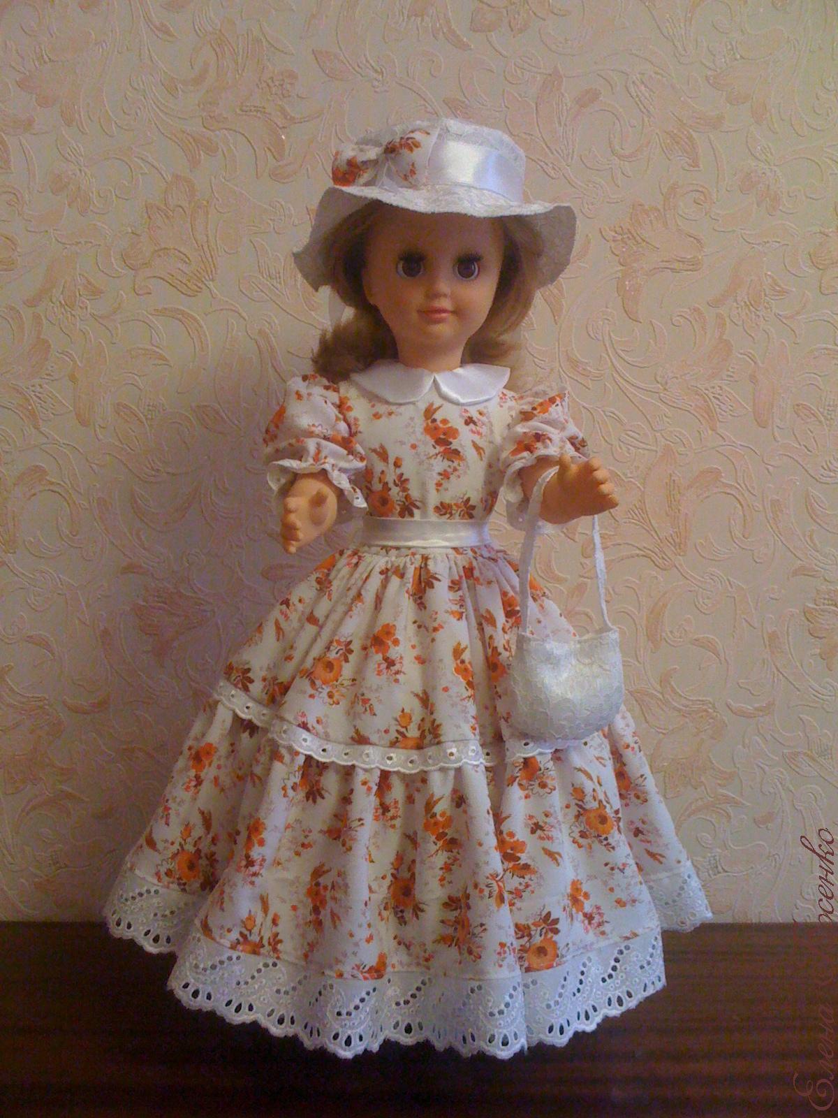 Как сшить платье для куклы большой своими руками